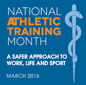 National Athletic Training Month Logo 2016