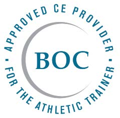 Board of Certification (BOC), to offer Continuing Education (CE) for Certified Athletic Trainers