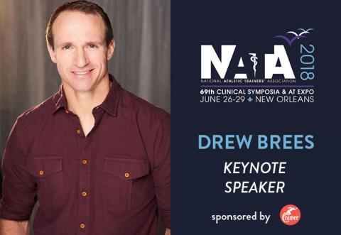 drew brees NATA keynote speaker